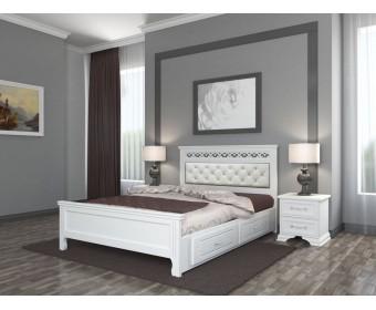 Кровать Bravo Грация с ящиками белый античный
