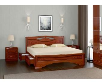 Кровать Bravo ЕЛЕНА-3 с ящиками Орех