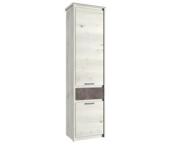 Шкаф-пенал 2D1S Бьёрк, ольха полярная/оникс