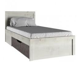Кровать с ящиком 90 Бьёрк, ольха полярная/оникс