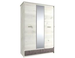 Шкаф с зеркалом 3DG2S Z Бьёрк, ольха полярная/оникс