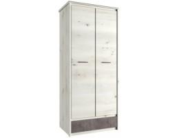Шкаф две двери 2DG1S Бьёрк, ольха полярная/оникс