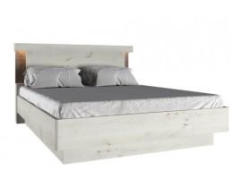 Кровать 160 Р с подъёмником Бьёрк, ольха полярная/оникс