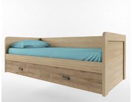 Кровать 90-2/D1 Дизель (дуб мадура/веллингтон)