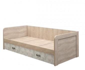 Кровать 90-2/D2 Дизель (дуб мадура/энигма)