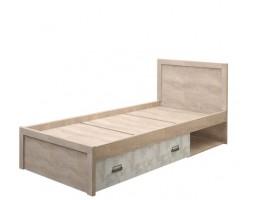 Кровать 90/D2 Дизель (дуб мадура/энигма)