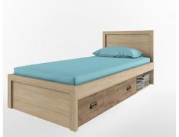 Кровать 90/D1 Дизель (дуб мадура/веллингтон)