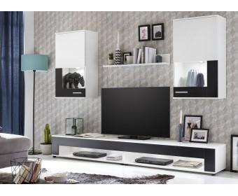 Набор корпусной мебели SQUARE, белый/черный