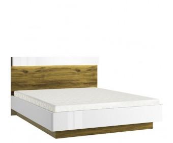 Кровать с подъемным механизмом 160 Торино, белый/дуб наварра