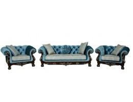 Комплект мягкой мебели Ассоль, орех (ткань бирюза)