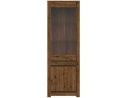 Шкаф стеклянная дверь S404-REG1W1D KADA, дуб April