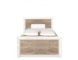 Кровать односпальная LOZ 90*200 КОЕН, ясень снежный/сосна натуральная