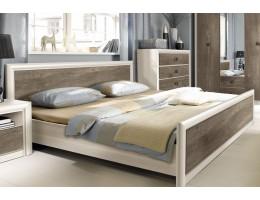 Кровать с основанием LOZ 140*200_2 КОЕН, ясень снежный/сосна натуральная