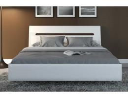 Кровать с металлическим основанием S205-LOZ 140 AZTECA, белый глянец