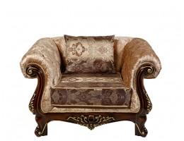 Кресло Ассоль, орех (ткань беж)