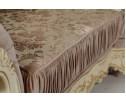 Угловой диван Эсмеральда, крем (ткань беж)