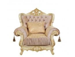 Кресло Эсмеральда, крем (ткань золото)