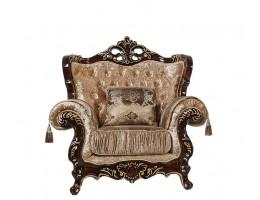Кресло Эсмеральда, орех (ткань беж)