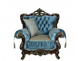 Кресло Эсмеральда, орех (ткань бирюза)