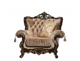 Кресло Эсмеральда, орех (ткань золото)