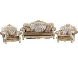 Комплект мягкой мебели Илона, крем (ткань беж)