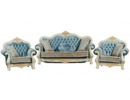Комплект мягкой мебели Илона, крем (ткань бирюза)