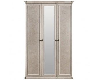 """Шкаф 3-х ств (2+1) с зеркалом """"Афина"""" крем корень"""