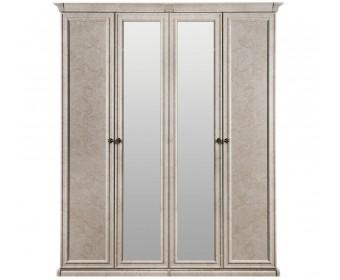 """Шкаф 4-х ств (2+2) с зеркалом """"Афина"""" крем корень"""