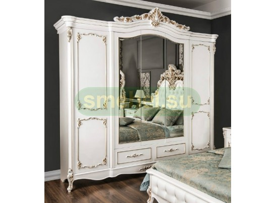 Шкаф 5-створчатый Флоренция, белый