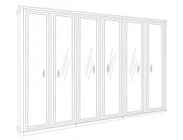 Шкаф 6-ти ств Патрисия крем глянец