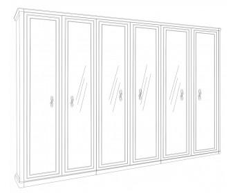 """Шкаф 6-ти ств (2+2+2) с зеркалом """"Афина"""" караваджо"""
