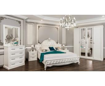 Спальня Мишель с 3-створчатым шкафом, белая