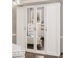 Шкаф 4-створчатый Мишель, белый