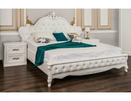 Кровать двуспальная с подъемным механизмом Мишель, белая