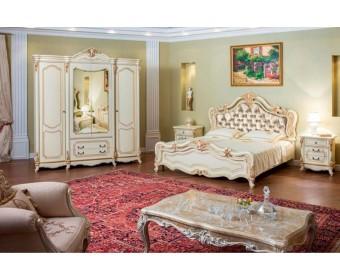 Спальня Мона Лиза (крем) с мягким изголовьем