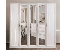 Шкаф 5-створчатый с зеркалами Натали, белый