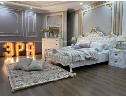 Спальня Натали с 6-створчатым шкафом, белая