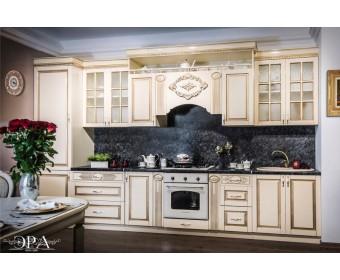 Модульная кухня Верона 3,9 м, крем глянец