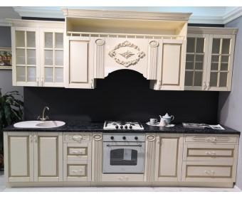 Модульная кухня Верона 3,3 м, крем глянец