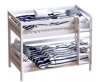 Двухъярусная кровать с лестницей Авалон (массив)