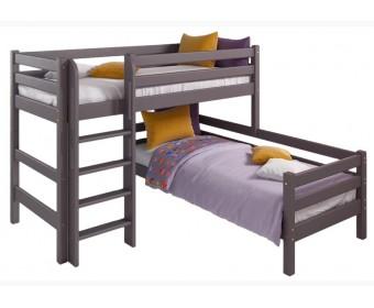 """Угловая кровать """"Соня"""" Вариант 7 с прямой лестницей"""