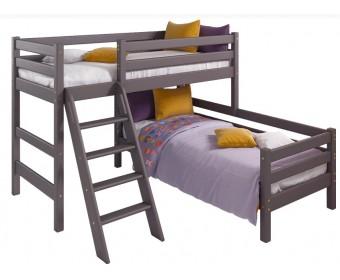 """Угловая кровать """"Соня"""" Вариант 8 с наклонной лестницей"""
