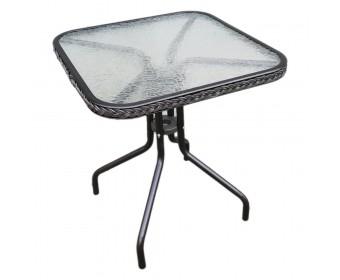 Стол квадратный с оплетением CAFE4