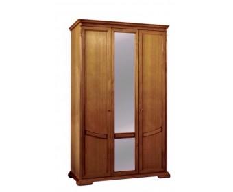 Шкаф для одежды Лика из натурального дерева с двумя отделениями, цвет медовый дуб ММ-137-01/03