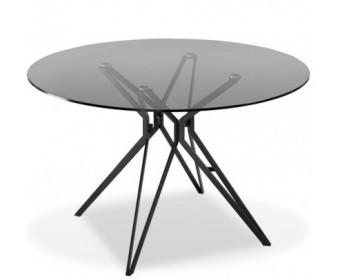 Стол круглый TEA, прозрачный/черный