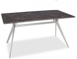 Стол прямоугольный SILVIO 150, коричневый мрамор