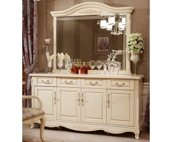Буфет (без зеркала) 8801 Fiore Bianco, ivory