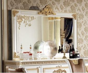 Зеркало для буфета Е62 Монарх, white gold