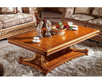 Журнальный столик Е62 Монарх, brown gold