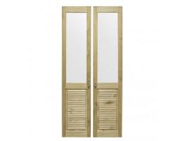 Комплект дверей к стеллажу Рауна-20 (бейц/масло)